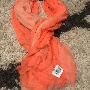 Peach ombré scarf